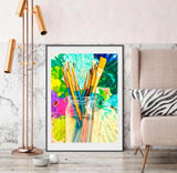 "Abstract Photography ""Paint brushes"""