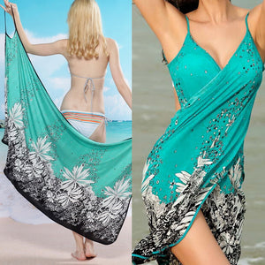 Floral Green  Swimsuit Cover up