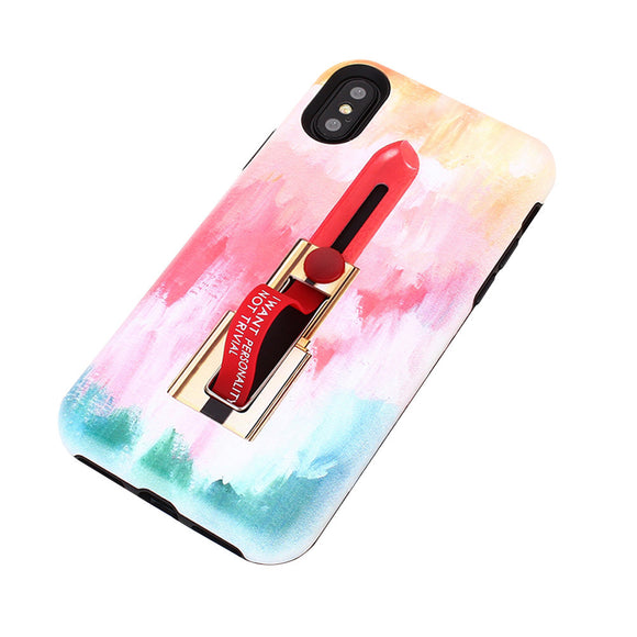 Multicolored Embossed Soft Case For iPhone
