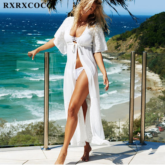 Full Length Solid Swimsuit Cover up