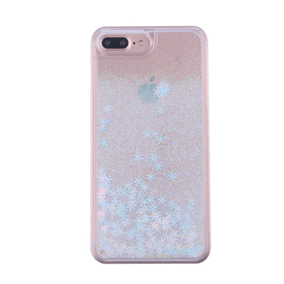 Snowflake Glitter Powder Liquid Quicksand Case Protector for iPhone 7 Plus / 8 Plus