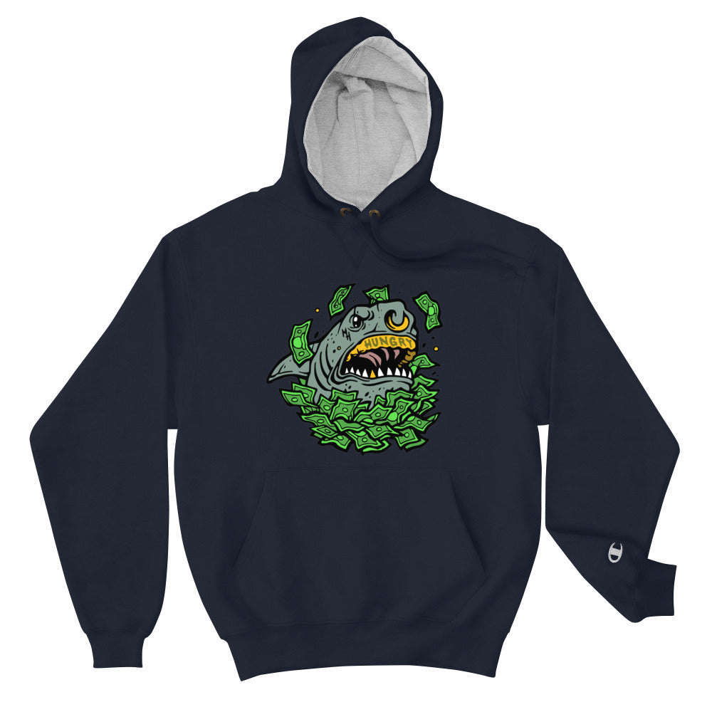Money Hungry Street Shark Champion Hoodie