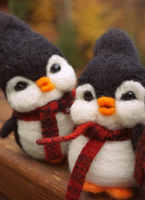 Beginner 3D Needle Felting Course- Felt your own Penguin!