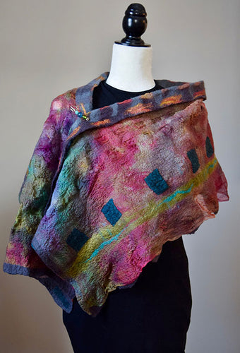 Reversible Nuno Felted Shawl Workshop