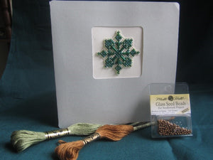 Beaded Snowflake Card