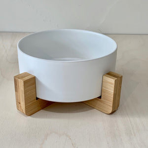 Single Small Raised Pet Bowl on Stand