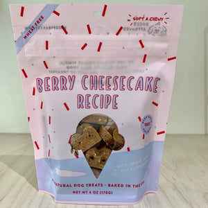 Berry Cheesecake Dog Treats