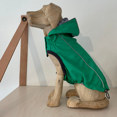 Reversible Green Raincoat
