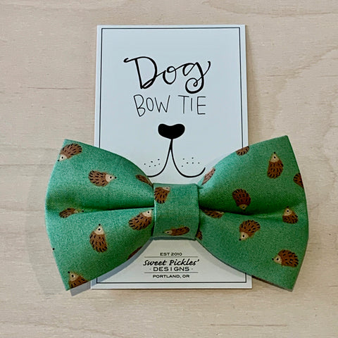 Hedgehogs Dog Bow Tie