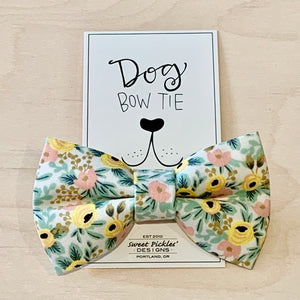 Classic Floral Dog Bow Tie