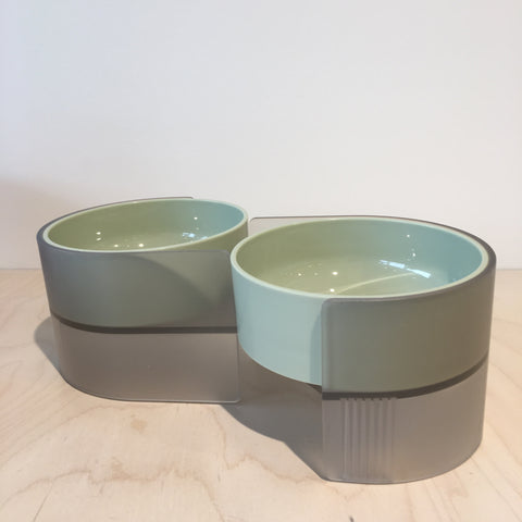 Dual Feeding Bowl Green