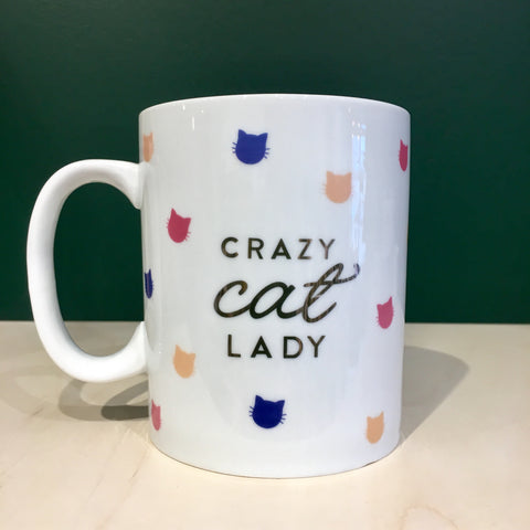 Cat Lady Pattern Montana Mug
