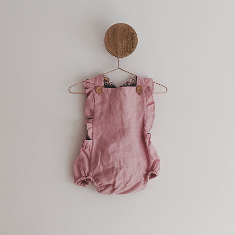 """Dusty Rose"" Romper with Liberty of London Fabric"