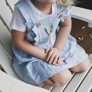 Liberty of London Pinafore Dress (Chambray)
