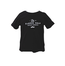 Load image into Gallery viewer, Organic Black Barber T-shirt (Short sleeved)