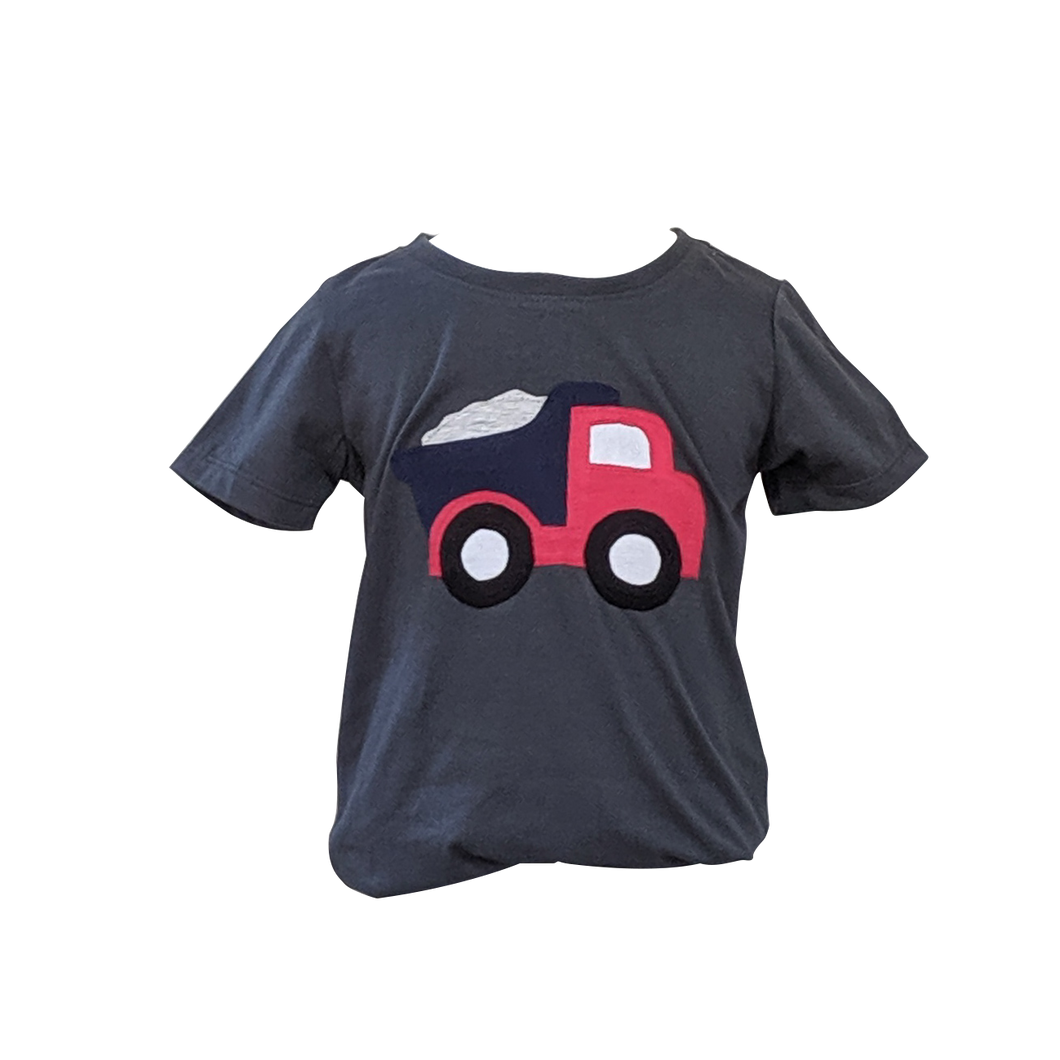 Organic Grey Truck T-shirt (Short sleeved)