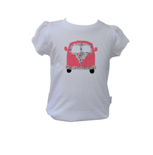 "Load image into Gallery viewer, ""Kombi"" Girls White Organic T-shirt (short sleeved)"
