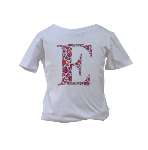 Organic White Letter T-shirt (long sleeved)