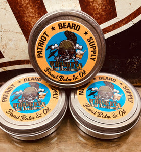 Whiskey and Bad Decisions Beard Balm