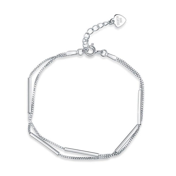 Solid 925 Sterling Silver Bracelet Dangle Fashion Bridesmaid Wedding Gift