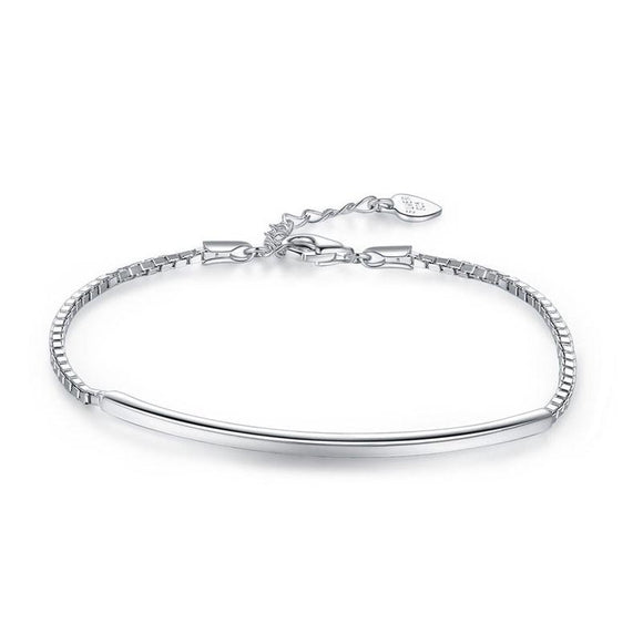 Solid 925 Sterling Silver Bracelet Fashion Birthday and Wedding Gift