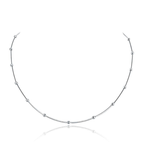 Solid 925 Sterling Silver Chain Necklace Stylish Jewelry