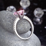 1.5 Ct Fancy Pink Created Diamond 925 Sterling Silver Wedding Ring Promise Anniversary