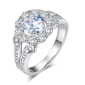 Art Deco Vintage style 925 Sterling Silver Wedding Ring 1.25 Ct Created Diamond Promise Anniversary