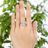 Solid 925 Sterling Silver 6 Carat Wedding Anniversary Solitaire Ring Luxury Jewelry