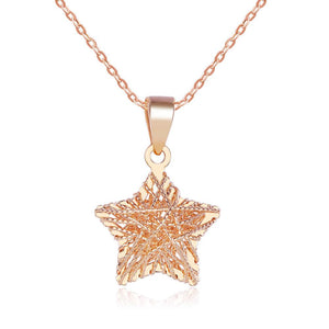 Solid 18K/750 Rose Gold Heart Shape Necklace
