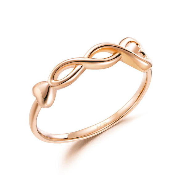 Solid 18K/750 Rose Gold Twist Ring