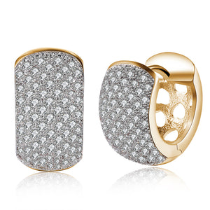 Swarovski Crystals 16mm Pave Heart Filigree Huggie  Earring
