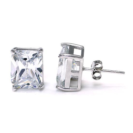 4 Carat Created Diamond Stud 925 Sterling Silver Earrings