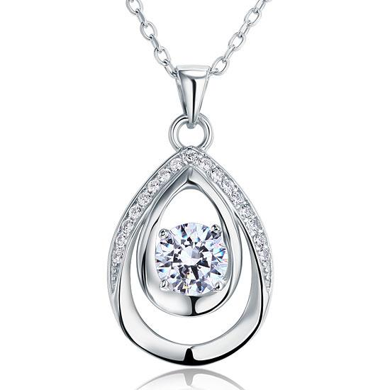1 Carat Round Cut 925 Sterling Silver Bridesmaid Pendant Necklace Jewelry