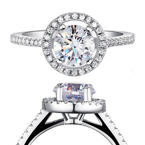 1.25 Carat Round Cut Created Diamond 925 Sterling Silver Wedding Engagement Ring