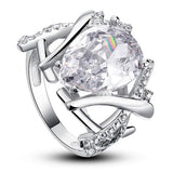 4 Carat Pear Cut Created Diamond 925 Sterling Silver Wedding Anniversary Ring