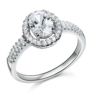 1.5 Carat Created Diamond Engagement Sterling 925 Silver Ring