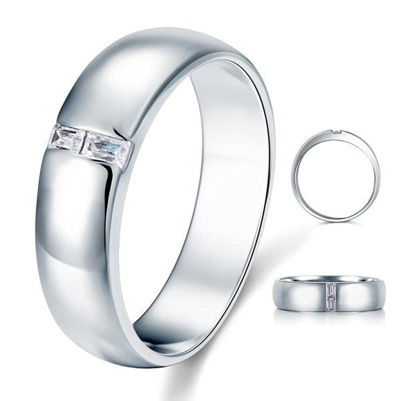 Men's Wedding Band Solid Sterling 925 Silver Ring