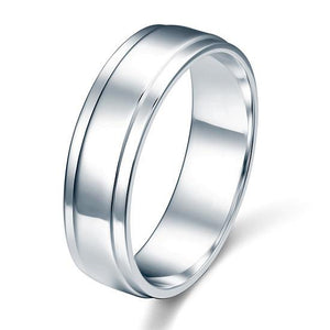 Men's Solid Sterling 925 Silver Wedding Band Ring