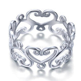 925 Sterling Silver Heart Ring Band Wedding Band Jewelry