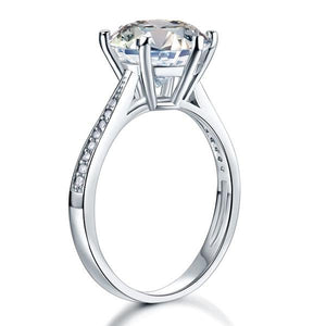 925 Sterling Silver Wedding Engagement Ring 3 Carat Created Diamond Jewelry