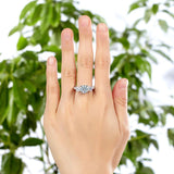 925 Sterling Silver 3-Stone Wedding Ring 2 Carat Created Diamond Jewelry Vintage Style