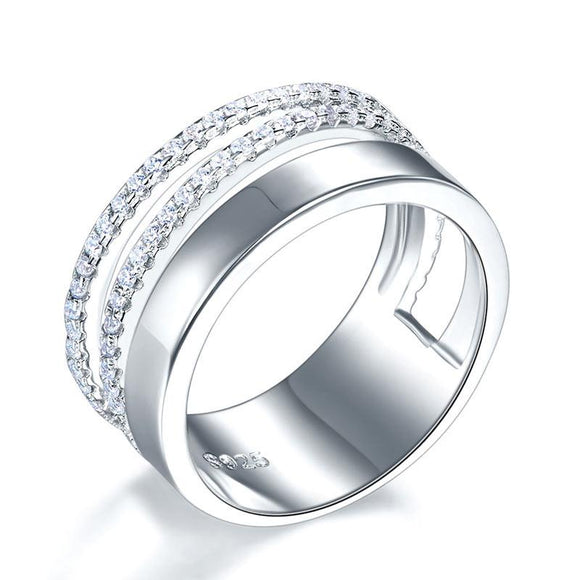 New Style Design Solid 925 Sterling Silver Wedding Band Ring