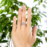 Solid 925 Sterling Silver Ring Crown Shape CZ for Lady Trendy Stylish Jewelry