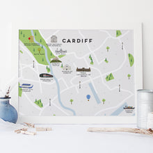 Load image into Gallery viewer, Cardiff Map