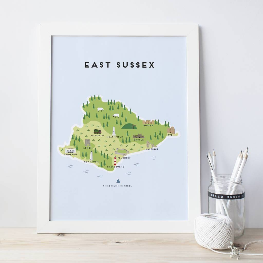 East Sussex Map