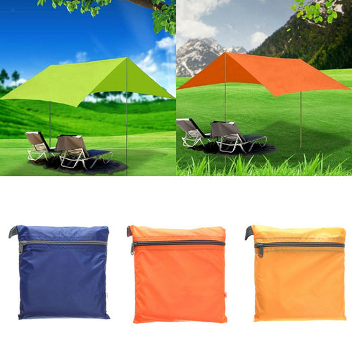Nylon fabric Ultralight Sun Shelter Camping Mat Beach Tent