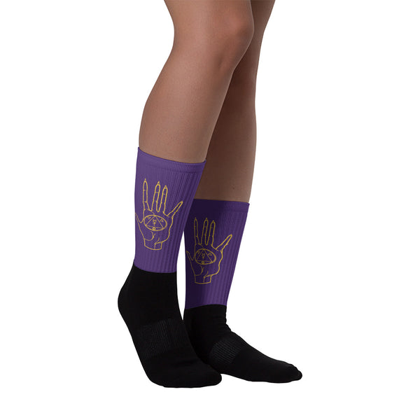 The Alchemists Hand Socks (Purple)