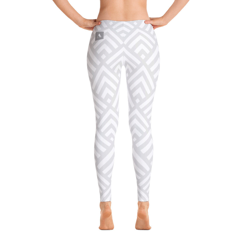 Gray Abstract Leggings