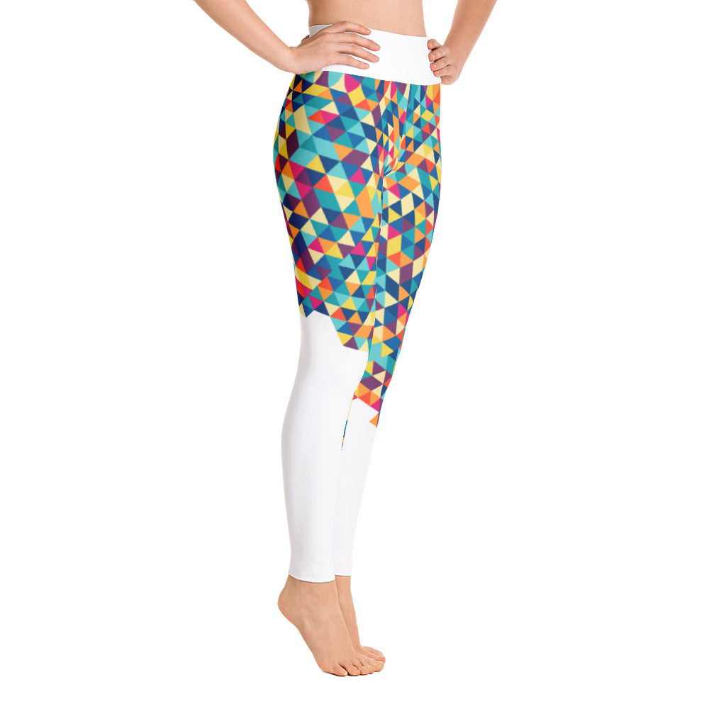 Color Pattern High-Waist Leggings